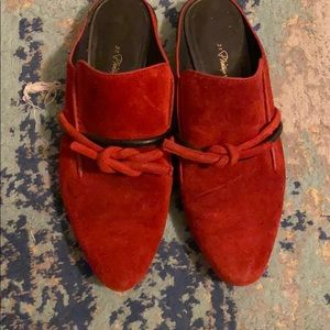 3.1 phillip Lim mules red with black suede size 37